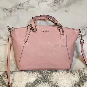 coach pink leather satchel NWT